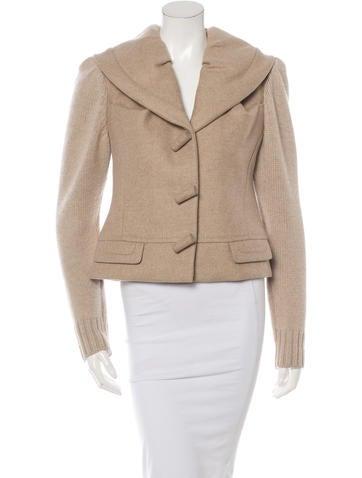 Louis Vuitton Cashmere-Blend Rib Knit Jacket None