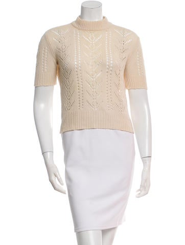 Louis Vuitton Open Knit Wool Top None