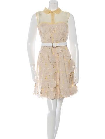 Louis Vuitton Weaved Sleeveless Dress None