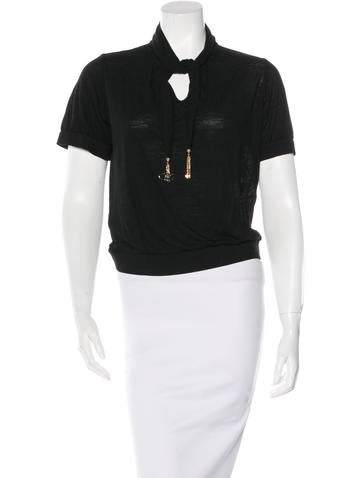 Louis Vuitton Wool Embellished Top None