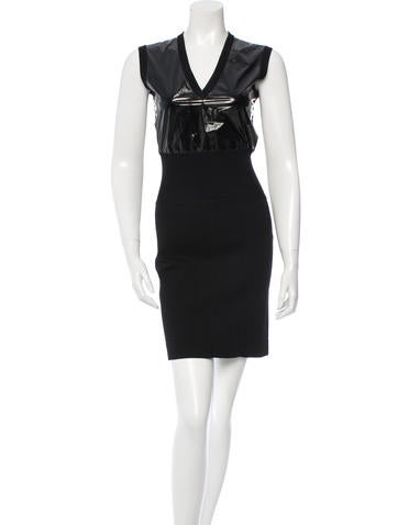 Louis Vuitton Knit V-Neck Dress None