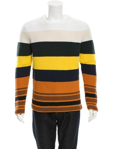 Loewe Ribbed Striped Sweater None