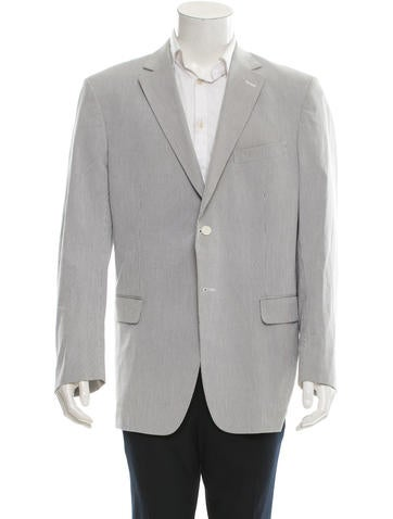 Loewe Striped Notch Lapel Blazer None