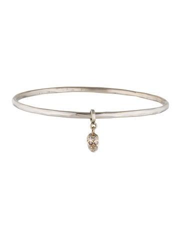 Loree Rodkin 18K Diamond Skull Charm Bracelet