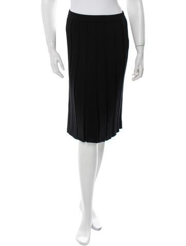 Maison Martin Margiela Wool Knee-Length Skirt None