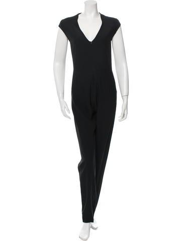 Maison Martin Margiela Sleeveless Skinny-Leg Jumpsuit None