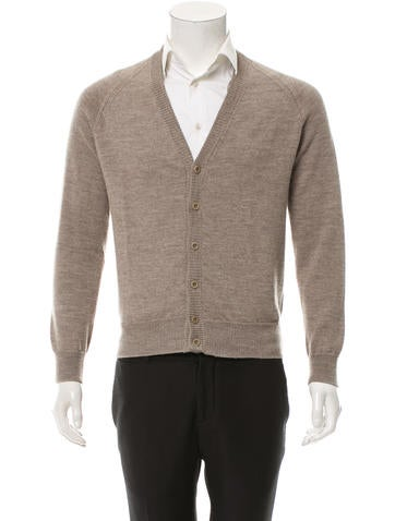 Maison Martin Margiela Wool Long Sleeve Cardigan None