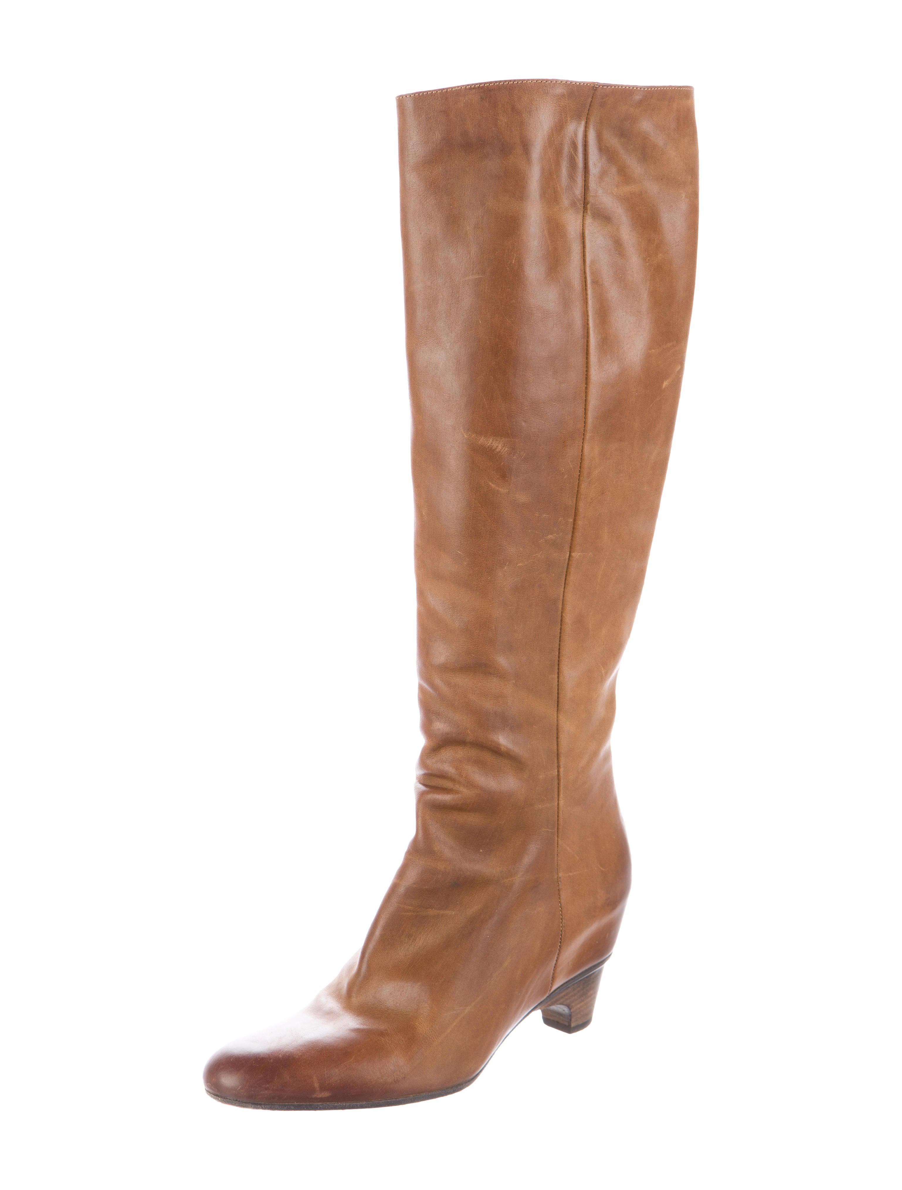 maison martin margiela toe knee high boots shoes
