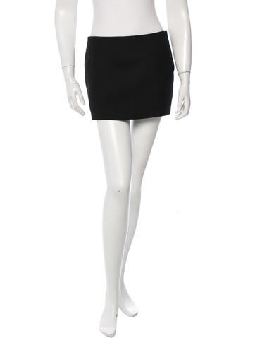 Maison Martin Margiela Wool Mini Skirt None