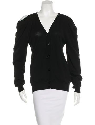 Maison Martin Margiela Cold-Shoulder V-Neck Cardigan None