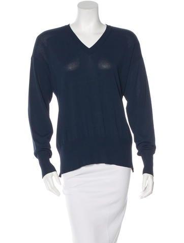Maison Martin Margiela Cutout Long Sleeve Sweater None