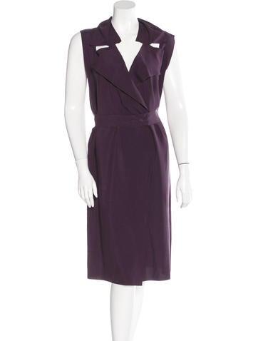 Maison Martin Margiela Sleeveless Silk Dress None