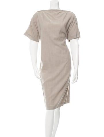 Maison Martin Margiela Wool Midi Dress None
