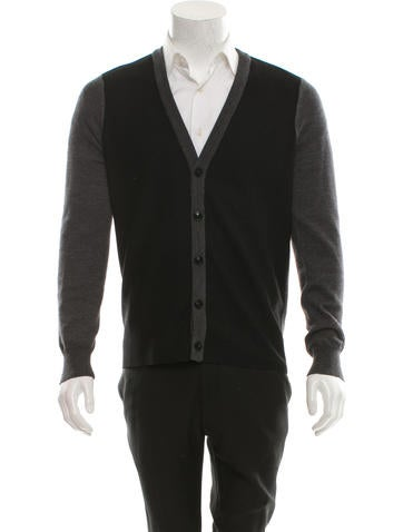 Maison Martin Margiela Wool Rib Knit-Trimmed Cardigan None