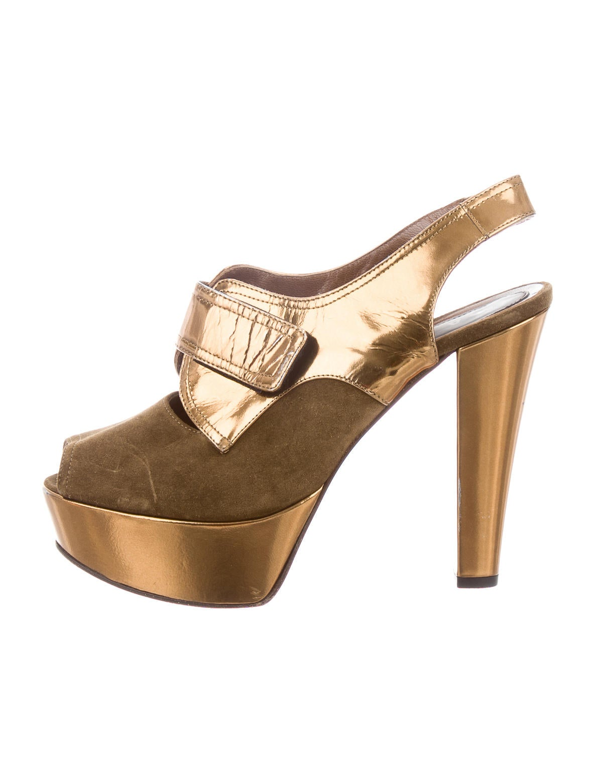 marni metallic platform pumps shoes man37595 the