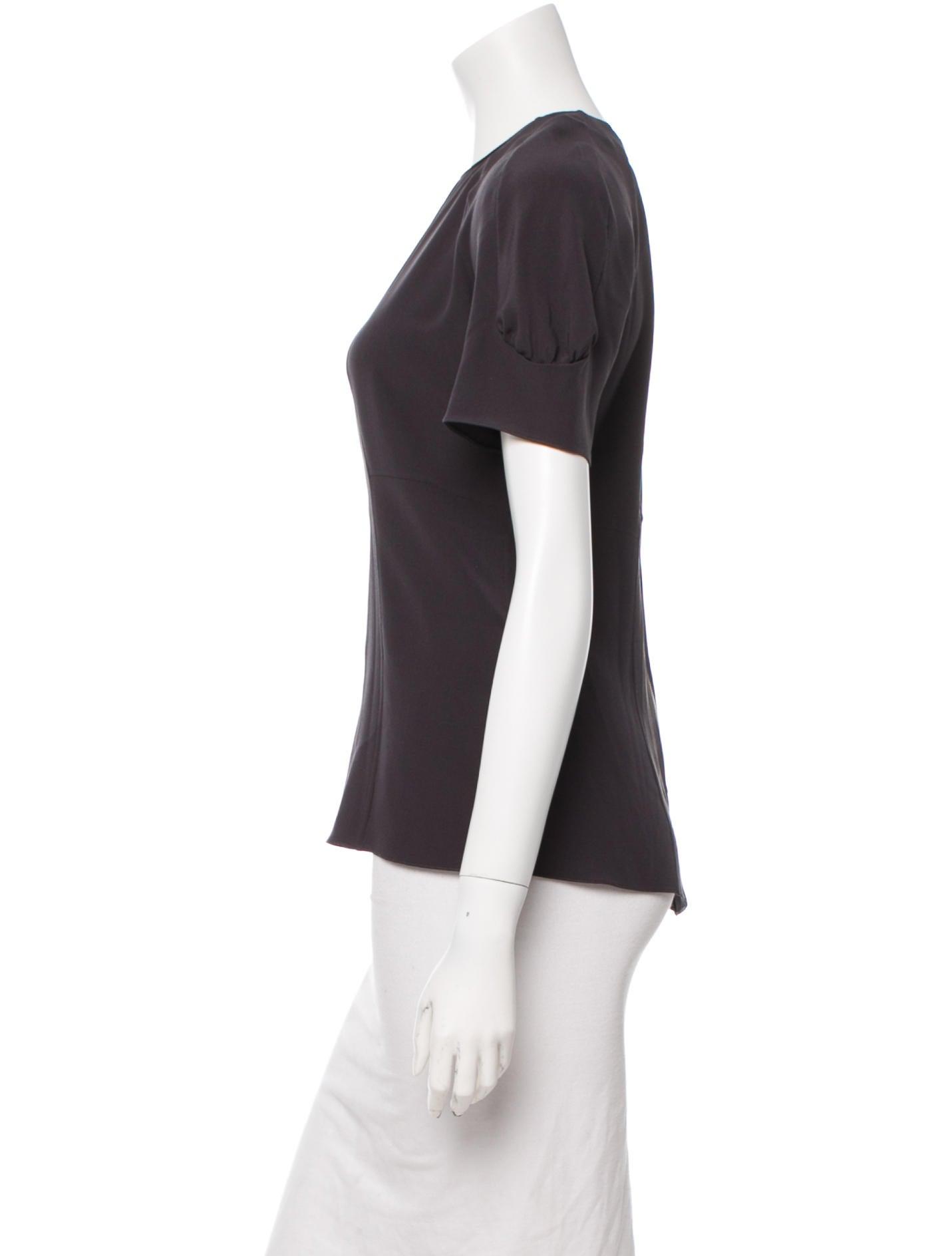 Women'S Short Sleeve Silk Blouse 93