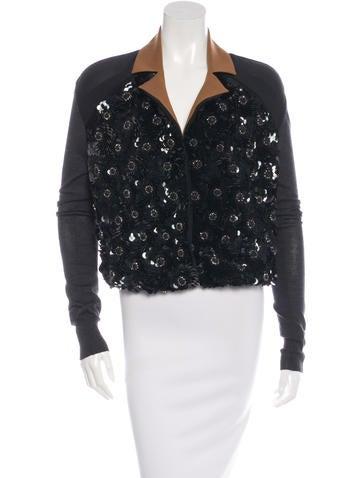 Marni Silk & Wool Embellished Top None