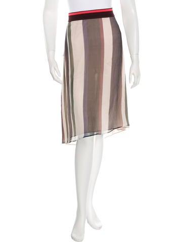 Marni Striped Silk Skirt w/ Tags None