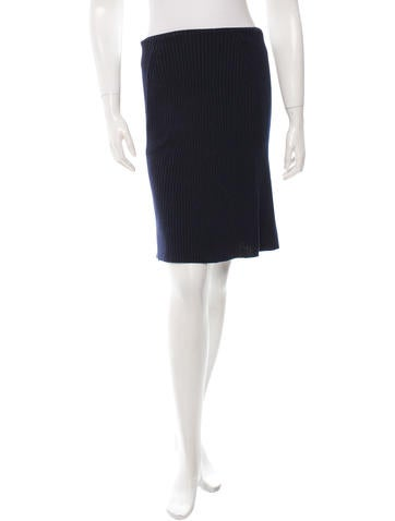 Marc Jacobs Merino Wool Rib Knit Skirt None