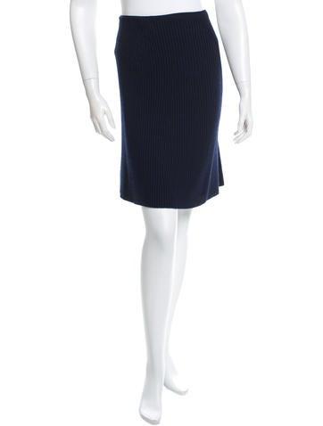 Marc Jacobs Rib Knit Wool Skirt None