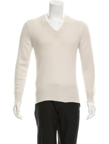 Marc Jacobs Long Sleeve V-Neck Sweater None
