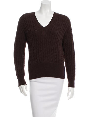 Marc Jacobs V-Neck Cable Knit Sweater None