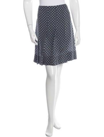 Marc Jacobs Silk Polka Dot Skirt None