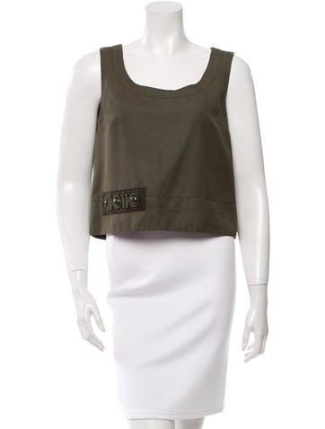 Marc Jacobs Embellished Silk Top w/ Tags None