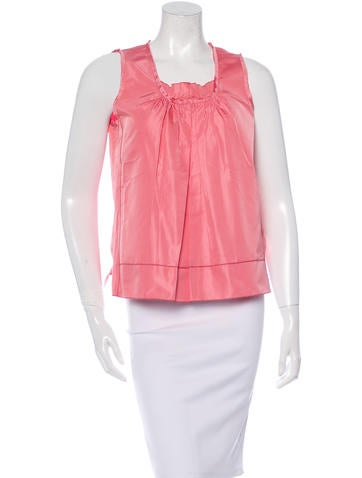 Marc Jacobs Silk Pleated Top w/ Tags None