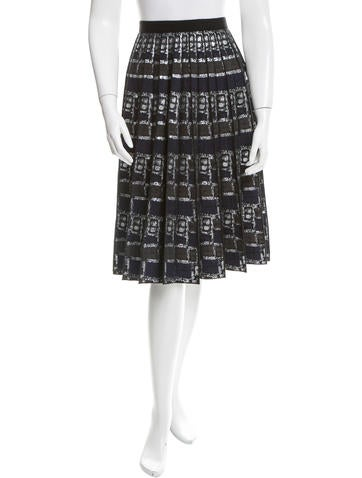 Marc Jacobs Metallic Pleated Skirt None