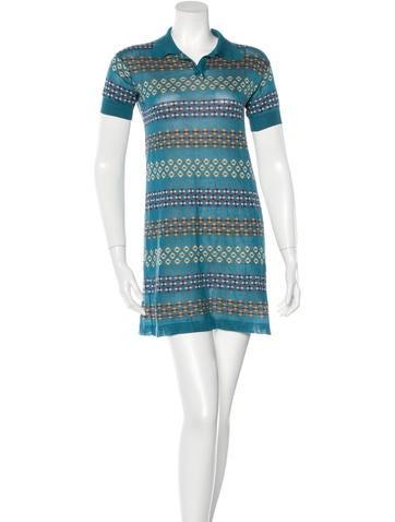 Marc Jacobs Cashmere & Silk-Blend Polo Dress None