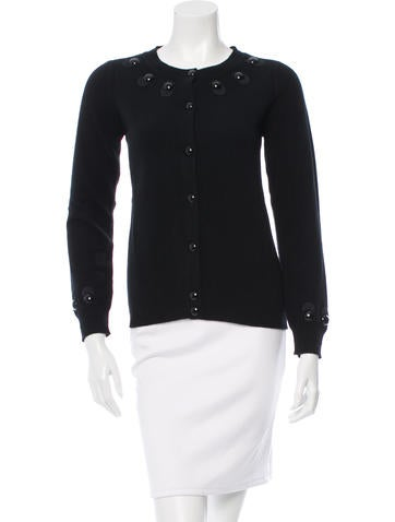 Marc Jacobs Embellished Wool Cardigan w/ Tags None