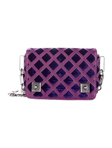 Marc Jacobs Quilted Velvet Bag None