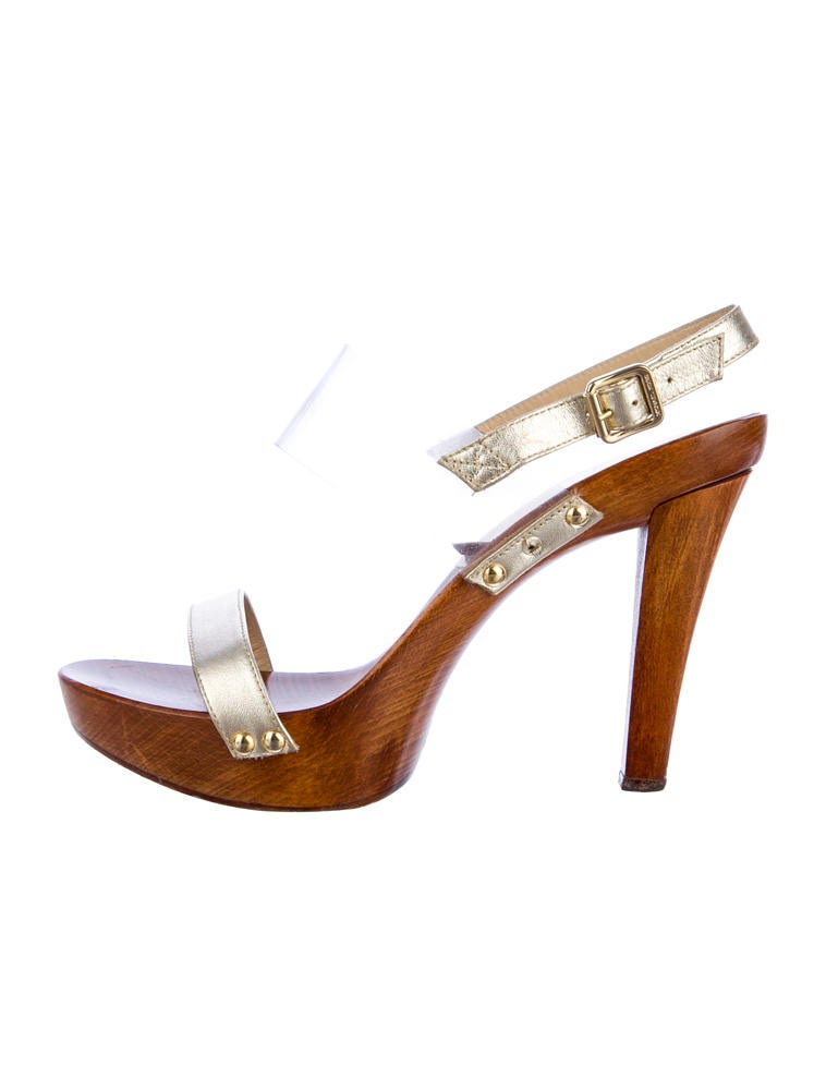 Michael Kors Gold Platform Sandals Michael Kors Metallic Platform