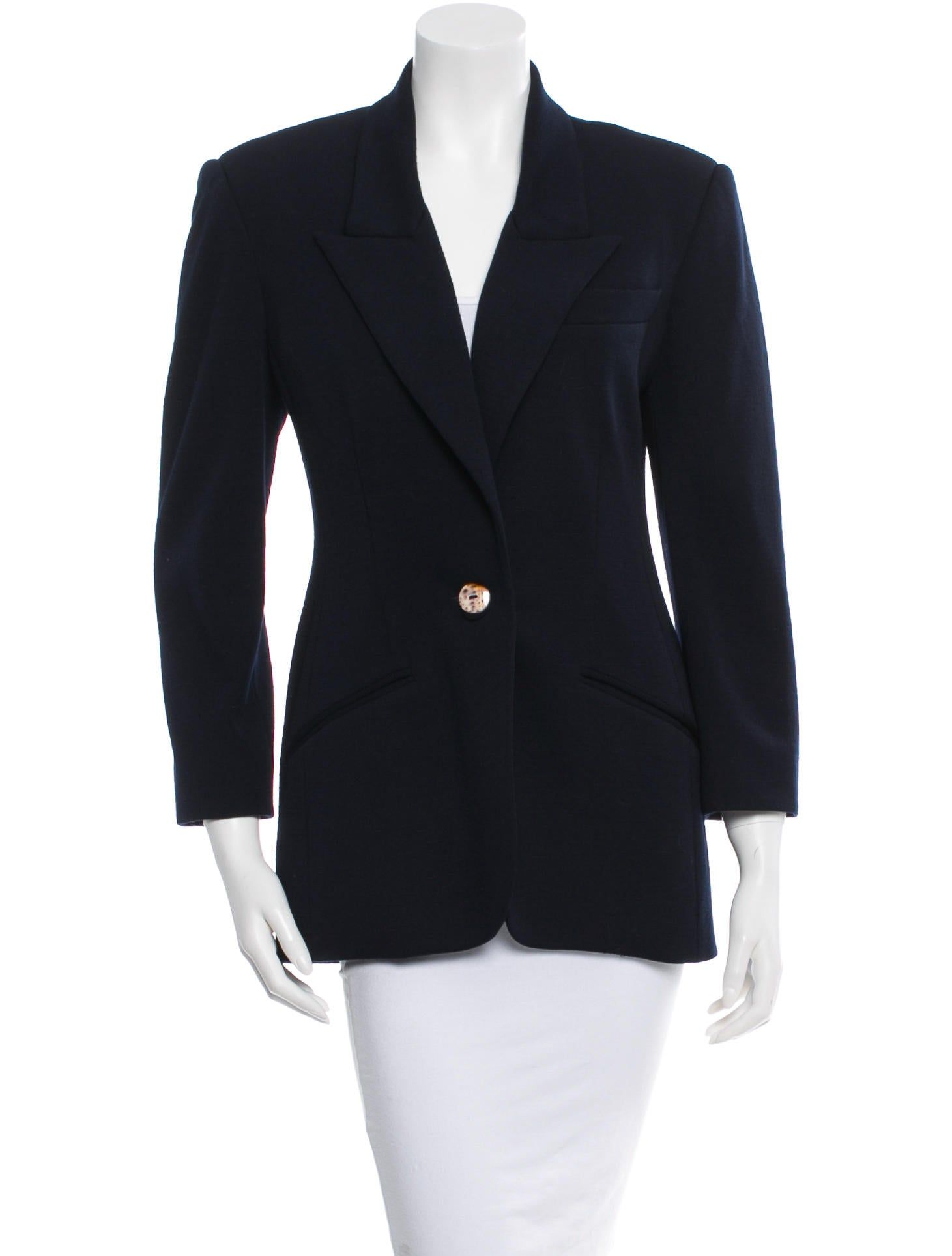 michael kors wool blazer jackets mic31758 the realreal. Black Bedroom Furniture Sets. Home Design Ideas