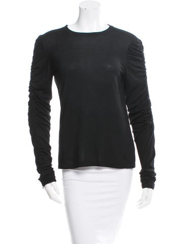Michael Kors Ruched Sleeve Top None