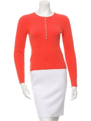 Michael Kors Jewel Embellished Knit Top None