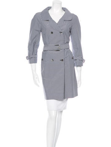 Michael Kors 2015 Gingham Trench Coat w/ Tags None