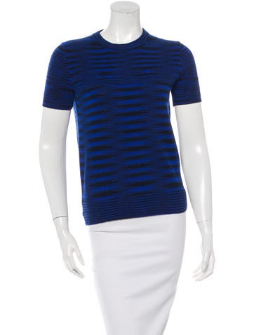 Michael Kors Cashmere Striped Top None