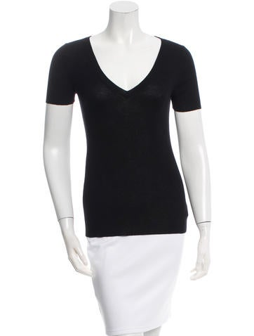 Michael Kors Cashmere Rib Knit Top None