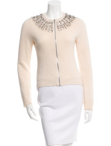 Michael Kors Cashmere Embellished Cardigan None