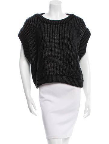 Michael Kors Coated Rib Knit Sweater None