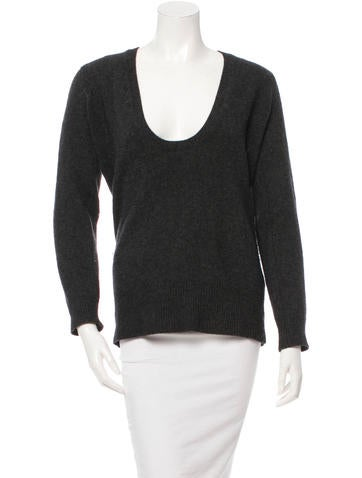 Michael Kors Plunging Scoopneck Sweater None