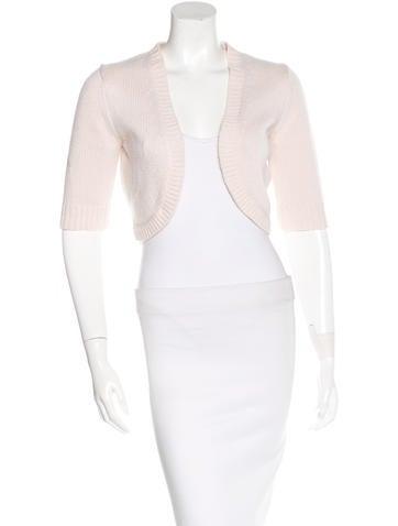 Michael Kors Cashmere Short Sleeve Cardigan None