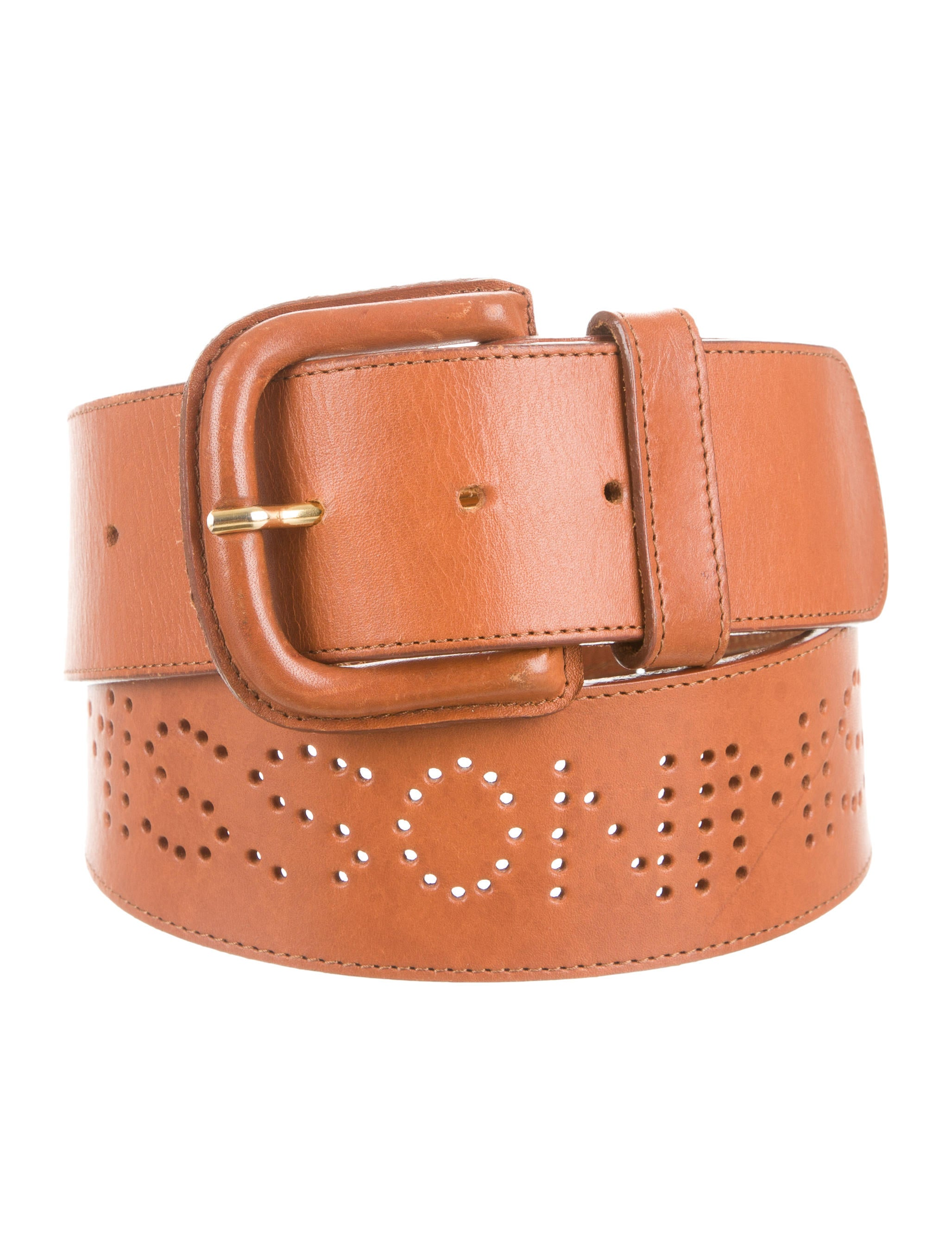 missoni perforated leather waist belt accessories