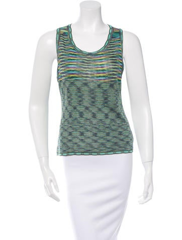 Missoni Patterned Knit Short Sleeve Top None