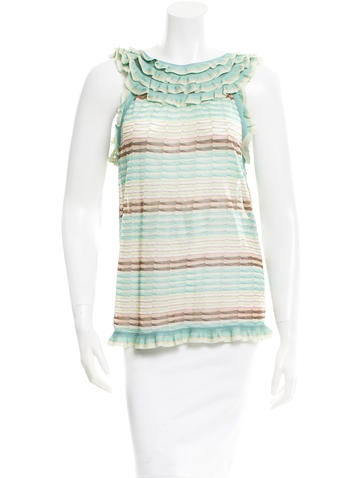 Missoni Sleeveless Ruffle-Accented Top None
