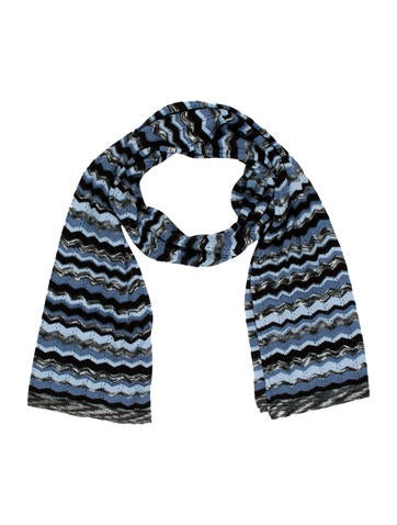 Missoni Zigzag Patterned Knit Scarf None