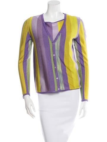 Missoni Long Sleeve Patterned Cardigan Set None