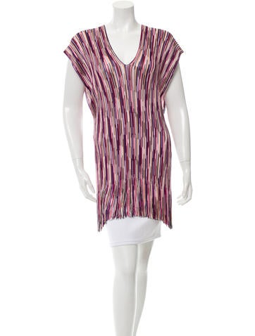 Missoni Striped Fringe-Trimmed Top None